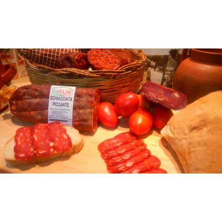Salame Calabrese Schiacciata dolce rossa pezzo intero 2 kg circa