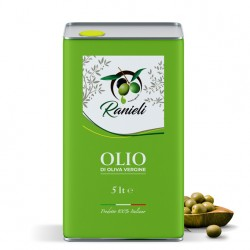 Olio di oliva vergine calabrese 5 Lt (PRODUZIONE SAN CALOGERO VV)