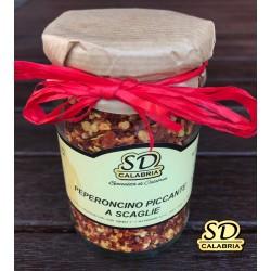 Peperoncino piccante a scaglie in vasetto 314 ml, peso netto 100 gr