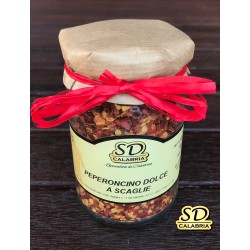 Peperoncino dolce a scaglie in vasetto 314 ml, peso netto 100 gr