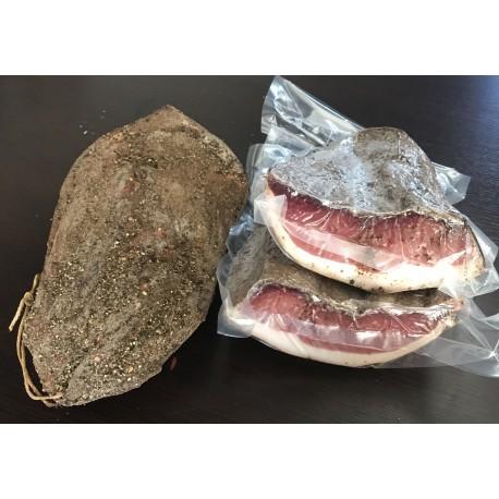 Artisan raw ham 1kg slice