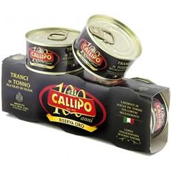 Callipo tranci di tonno olio oliva 3x80 gr riserva oro